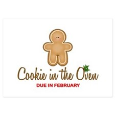 Cookie Due February 5x7 Flat Cards
