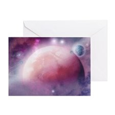 Pink Space Dream Greeting Cards