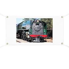 Steam train locomotive, Goolwa, South Austr Banner