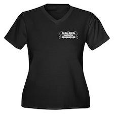 Mess With Mau Women's Plus Size V-Neck Dark T-Shir