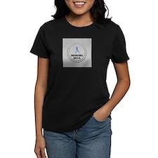 Personalisable Grey Blue Baseball Badge T-Shirt