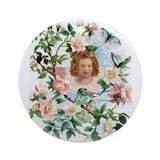 Angel and Roses : Ornament (Round)