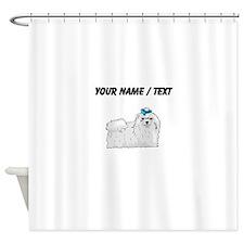 Maltese (Custom) Shower Curtain