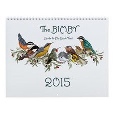 2015 Bird Watercolors Wall Calendar
