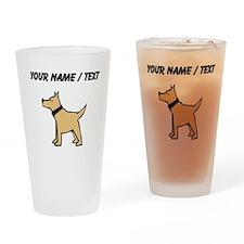 Dogo Argentino (Custom) Drinking Glass