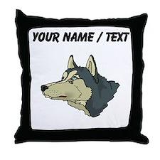 Siberian Husky (Custom) Throw Pillow
