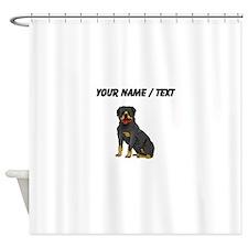 Rottweiler (Custom) Shower Curtain