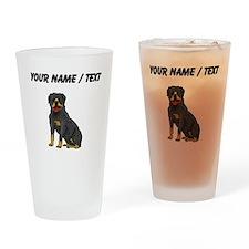 Rottweiler (Custom) Drinking Glass