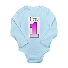 Unique First birthday Long Sleeve Infant Bodysuit