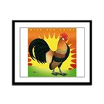 Rise and Shine Dutch Bantam Framed Panel Print