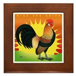 Rise and Shine Dutch Bantam Framed Tile