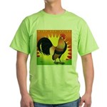 Rise and Shine Dutch Bantam Green T-Shirt
