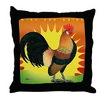 Rise and Shine Dutch Bantam Throw Pillow