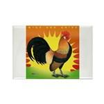 Rise and Shine Dutch Bantam Rectangle Magnet