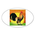 Rise and Shine Dutch Bantam Oval Sticker