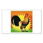 Rise and Shine Dutch Bantam Rectangle Sticker