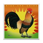 Rise and Shine Dutch Bantam Tile Coaster