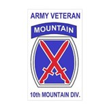 10th Mountain Division <BR>Veteran Decal