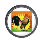 Rise and Shine Dutch Bantam Wall Clock