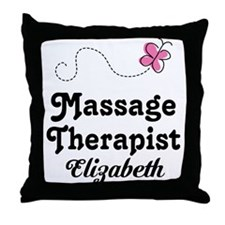 Massage Therapist Personalized Throw Pillow