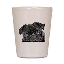 Black Pug Shot Glass