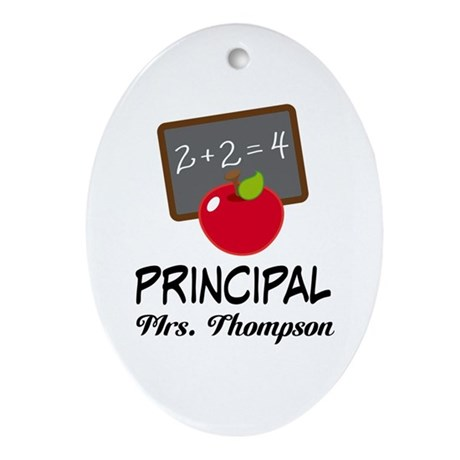 School Principal Personalized Ornament (Oval)