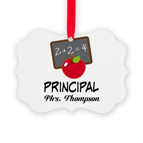 School Principal Personalized Ornament