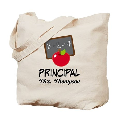 School Principal Personalized Tote Bag