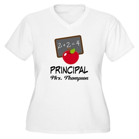 School Principal Personalized Plus Size T-Shirt