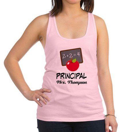 School Principal Personalized Racerback Tank Top