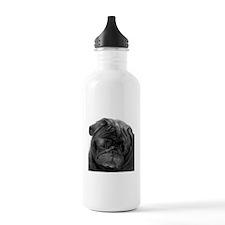Black Pug Water Bottle