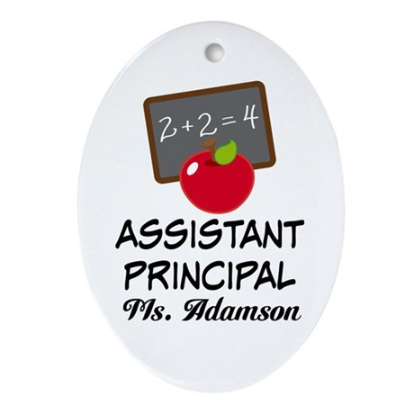 Assistant School Principal gift Ornament (Oval)