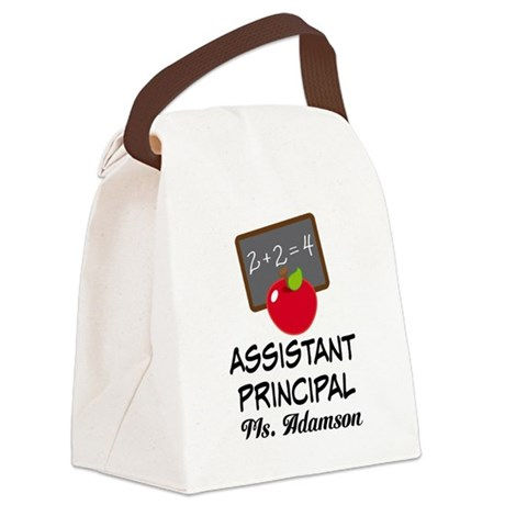 Assistant School Principal gift Canvas Lunch Bag
