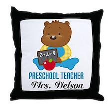 Preschool Teacher personalized Throw Pillow