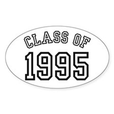 Class of 1995 Oval Bumper Stickers