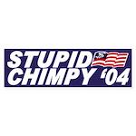 Stupid Chimpy '04 (bumper sticker)