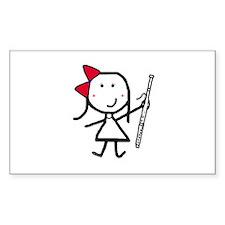 Girl & Bassoon Rectangle Decal