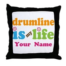 Drumline Music Is My Life Throw Pillow