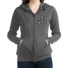 Letter M Chevron Monogram Women's Zip Hoodie