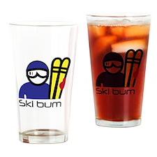 Ski Bum Drinking Glass