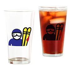 Ski Man Drinking Glass