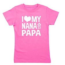 Cute Nana and papa Girl's Tee
