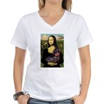 Mona / Dachshund (wire) Women's V-Neck T-Shirt