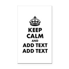 Personalized Keep Calm Rectangle Car Magnet