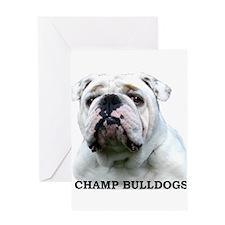 Unique English bulldogs Greeting Card