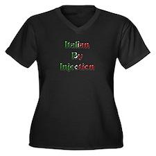 Unique Hen party Women's Plus Size V-Neck Dark T-Shirt