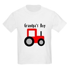 Red Tractor - Grandpa's Boy T-Shirt