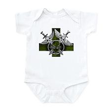 Swords w/ Alien Crest Lime Infant Bodysuit