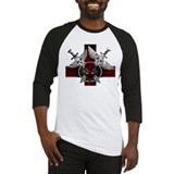 Alien Skull N Crossbones Red Baseball Jersey
