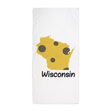 State Wisconsin Beach Towel